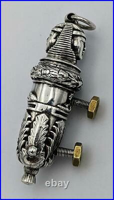 1883 Scottish Regiment Victorian Sterling Silver Officers Whistle