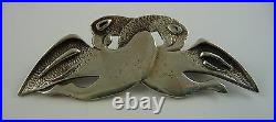 1960s Ola Gorie Zoomorphic Pictish Brooch Pin Scottish Boxed Hilton of Caboll