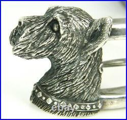 1994 NATASHA KAYN LTD Scottish Terrier / Schnauzer Sterling HEAVY Belt Buckle