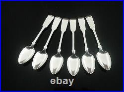 6 Immaculate Antique SCOTTISH Sterling Silver Teaspoons, GLASGOW 1857
