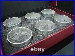 6 NEW Scottish Sterling Silver Napkin Rings (cased) Dart Silver Ltd