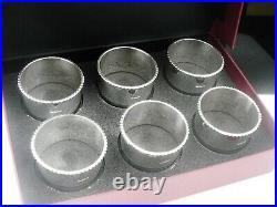 6 NEW Scottish Sterling Silver Napkin Rings in Case, Dart Silver Ltd 2020