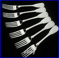 6 Scottish Antique Sterling Silver Table Dinner Forks, Robert Gray & Son 1846