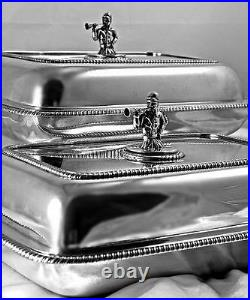 A Pair Of Georgian Scottish Sterling Silver Entree Dishes, 1-2