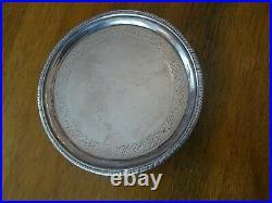 ANTIQUE GEORGIAN SCOTTISH STERLING SILVER TRAY, SALVER, EDINBURGH c1802