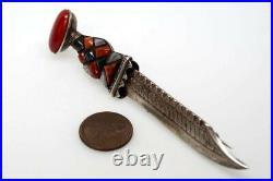 ANTIQUE SCOTTISH SILVER & AGATE SGIAN DUBH / SKEAN DHU DAGGER BROOCH c1890