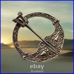 Alexander Ritchie Iona Scottish Sterling Silver Celtic Design Penannular Brooch