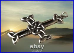 Alexander Ritchie Iona Scottish Sterling Silver Celtic Nunnery Cross Pendant