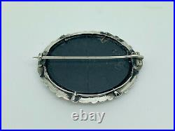 Antique 1860 Victorian Scottish Sterling Silver Agate St Andrews Cross Brooch