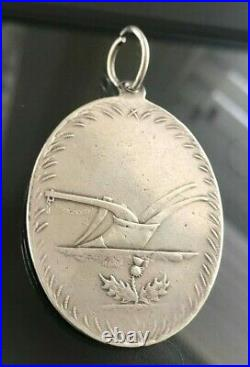 Antique Georgian Sterling Silver Scottish Tennant Watch Fob Awards Medal 1804