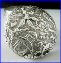 Antique Scottish Import Sterling Silver Box, George Edward & Sons, Glasgow 1901