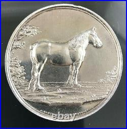 Antique Scottish Sterling Silver Best Filly Foal Watch Fob Award Medal 1926