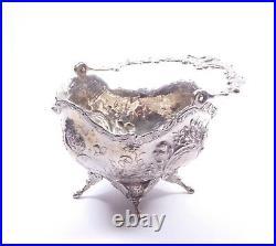 Antique Silver Bowl Cherub Design Scottish Glasgow 1905 HM Sterling 129.2g