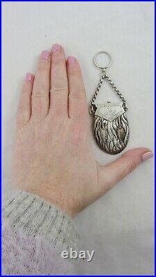 Antique Silver Victorian Novelty Sporran Ladies Purse Scottish Miniature