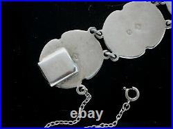 Antique Sterling Silver Scottish Agate Bracelet