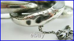 Antique Victorian Large Sterling Silver Scottish Engraved Agate Brooch 26.6 Gram