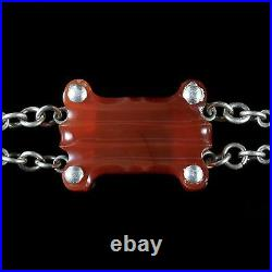 Antique Victorian Scottish Agate Bracelet Silver Circa 1860