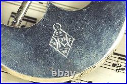 Antique Victorian Scottish Silver Aberdeen Granite Cairngorm Annular Brooch 1873
