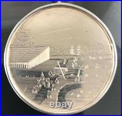 Antique Victorian Sterling Silver Scottish Horticultural Fob Awards Medal 1848