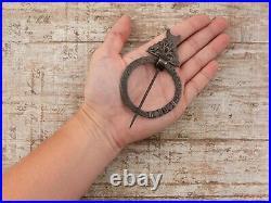 Antique Vintage Georgian Sterling Silver Scottish Chased Kilt Pin Brooch 26.3g