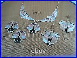 Atractive Scottish Stg. Silver & Enamel Art Nouveau Pendant 1980s Pat Cheney