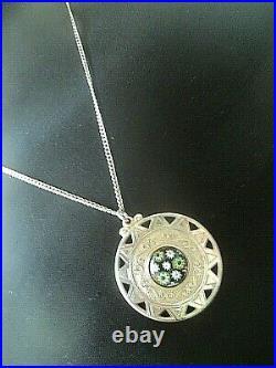 Attractive Stg. Silver Scottish Pendant Caithness Glass h/m 1976 Birmingham