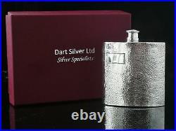 Boxed Scottish Sterling Silver Hip Flask, Hallmarked Edinburgh, Dart Silver Ltd