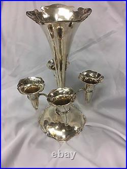 C. 1904 Scottish Sterling Silver Glasgow Flower Bud Vase Epergne