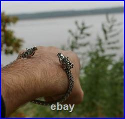 CELTIC Deer Silver Bracelet Pagan Irish Scottish Cernunnos Herne Stag Wildlife