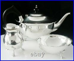 Contemporary Scottish Sterling Silver Teaset, Margaret Ormiston Martin 1963-68