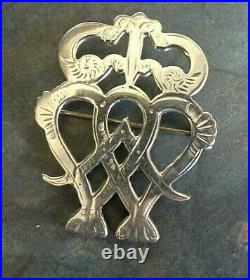 EARLY Orkney Sterling Silver Scottish Luckenbooth Brooch h/m 1967 Ola Gorie