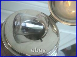 Edwardian Scottish Sterling Silver Inkwell h/m 1908 Edinburgh Hamilton & Inches