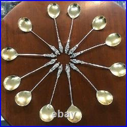 Exceptional set of 12 Scottish Sterling Silver Apostle spoons, Edinburgh1873