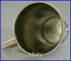 HEAVY 130g SCOTTISH HAND MADE STERLING SILVER ARTS AND CRAFTS CUP c1950 ANTIQUE
