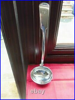 Inverness C1813 Scottish Provincial Solid Silver Soup/stew Ladle Robert Naughton