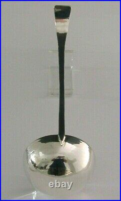LARGE 90g SCOTTISH PROVINCIAL ISLE OF MULL STERLING SILVER SERVING LADLE 1988