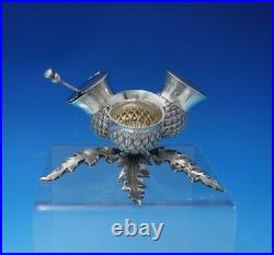 Mackay and Chisholm Scottish Sterling Silver Condiment Set 3pc 3-D Base (#5026)
