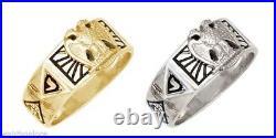Men's Silver Gold Masonic Freemason Scottish Rite Ring
