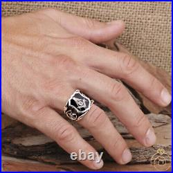 Mens Custom Scottish Rite Masonic Rings For Men Freemason Silver Mason Jewelry