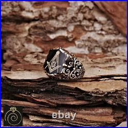 Mens Scottish Rite Ring Personalized Jewelry For Men Masonic Shield Customized