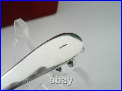 New Boxed Scottish Sterling Silver TEDDY Egg Cup & Spoon, Christening Gift