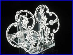 New Sterling Silver Nurses Belt Buckle, Scottish Thistle, Edinburgh Hallmarked