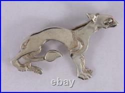 Ola Gorie Hunting Dog Brooch Book Of Kells Sterling Silver Scottish 4.9g SJ16