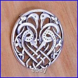 Ola Gorie OMG Scottish Celtic Love Birds Sterling 925 Silver Pin Brooch RARE