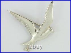 Ola Gorie Rare Scottish Sterling Silver Vintage Seagull Brooch 925 L25