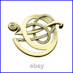 Ola Gorie Silver 9ct Yellow Gold Flow Earrings Mixed Metal Scottish
