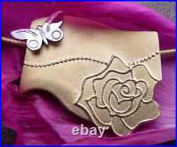 Ola Gorie Silver & 9ct Yellow Gold Flowerland Pendant 18 Curb Chain Scottish