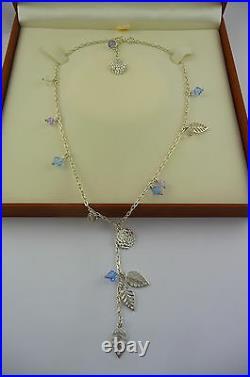 Ola Gorie Silver Kimono Pendant Chain Scottish Box