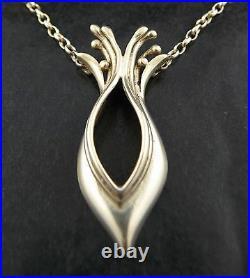 Ola Gorie Silver Pendant Necklace Chain Boxed Scottish