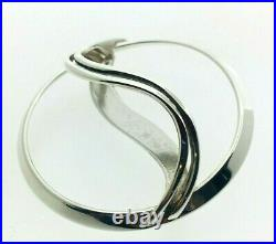 Ola Gorie Sterling Silver Wave Brooch Edinburgh 1989 Scottish 43.8mm Diam